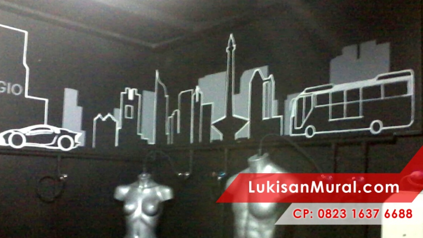 Lukisan mural cp 0856 850 3437 0823 1637 6688 for Mural hitam putih